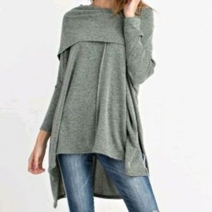 Easel Anthropologie Cowl Neck Sweater